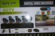 камеры,  для улицы 4 камеры с видеорегистратором  и проводами