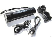 Велосипедный фонарик с радио мр3 плеером встроенным днамиком 3 ват